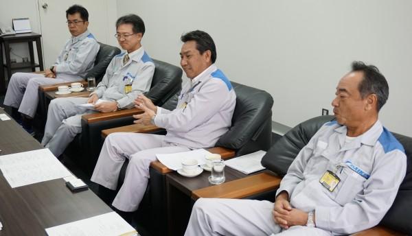 奥からダイキン工業(タイ)の亀高靖司様さん、平野貸嗣さん、平尾浩一さん、築山吉徳さん