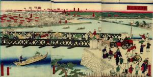 横浜鉄橋之図
